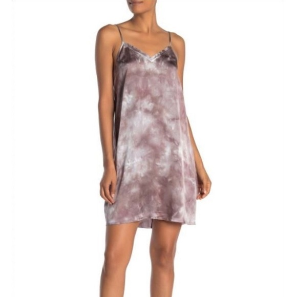 ATM Anthony Thomas Melillo Dresses & Skirts - ATM Tie Dye Silk Slip Dress in Mushroom XL